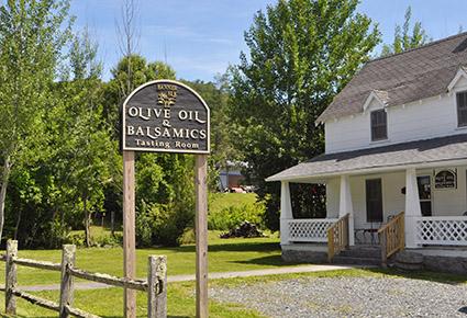 Olive Oil Tasting Room Banner Elk NC