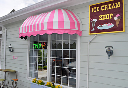 Ice Cream Shop Banner Elk NC