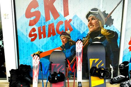 Ski Shack Banner Elk ski rentals